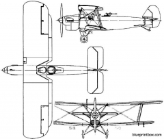 vickers vivid 1927 england model airplane plan