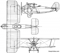 vickers vixen 1923 england model airplane plan
