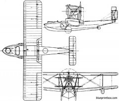 vickers vulture 1923 england model airplane plan