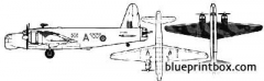 vickers wellington mkx model airplane plan