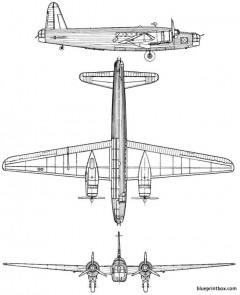 vickerswellington mk i model airplane plan