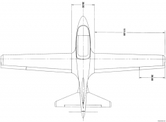 view of bd 5b long wing model 21 ft wingspan model airplane plan