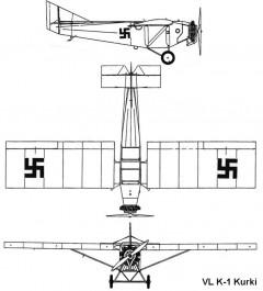 vl k1 kurki 3v model airplane plan