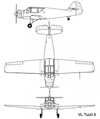 vl tuuli2 3v model airplane plan