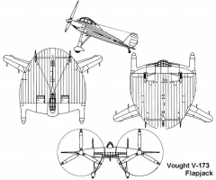 vought173 3v model airplane plan