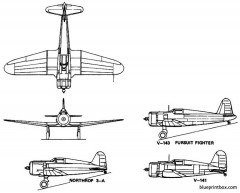 vought 3 a v 141 v 143 model airplane plan