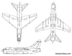 vought a 7 corsair ii model airplane plan
