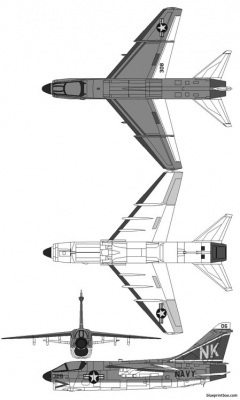 vought a 7 corsair ii 2 model airplane plan