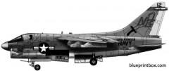 vought a 7a corsair ii 2 model airplane plan