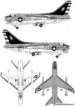vought a 7b corsair ii 2 model airplane plan