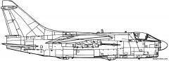 vought a 7d corsair ii model airplane plan