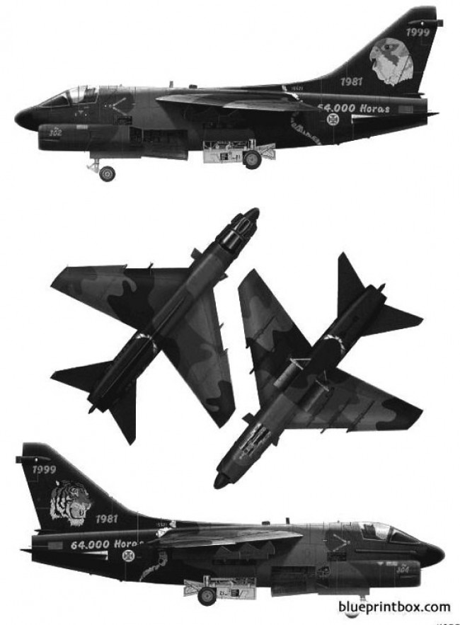 vought a 7p corsair ii model airplane plan