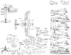 vought f4u model airplane plan