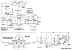 vought f4u 5n model airplane plan
