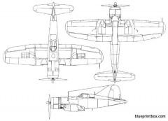 vought f4u corsair model airplane plan