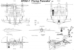 vought f5u model airplane plan