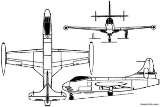 vought f6u pirate 1946 usa model airplane plan