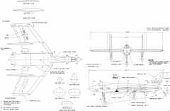vought f7u 1 cutlass model airplane plan