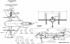 vought f7u 3 model airplane plan