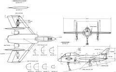 vought f7u 3 cutlass model airplane plan