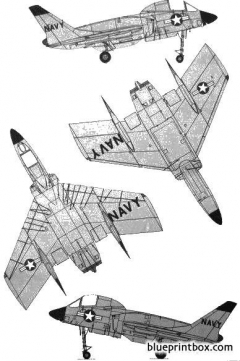vought f7u 3 cutlass 2 model airplane plan