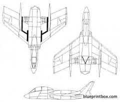 vought f7u cutlass model airplane plan
