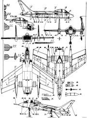 vought f7u cutlass 2 model airplane plan