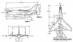 vought f8u 2 model airplane plan