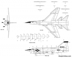 vought f8u 3 model airplane plan