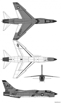 vought f 8e crusader model airplane plan