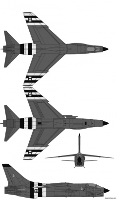 vought f 8e crusader french model airplane plan