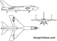 vought f 8f crusader model airplane plan