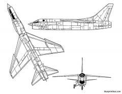 vought f 8u crusader model airplane plan