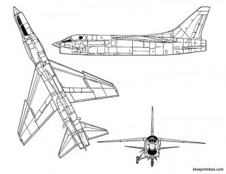 vought f 8u crusader model airplane plan