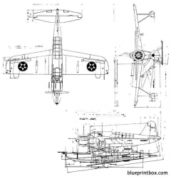 vought os2u  1 2 3 model airplane plan