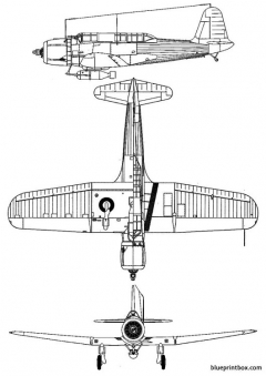 vought sb 2u1 vindicator model airplane plan