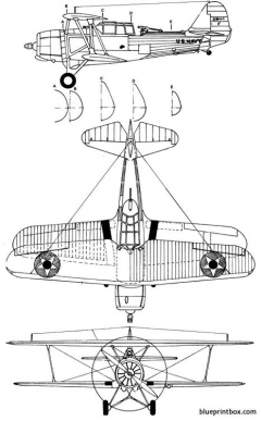 vought sbu 1 corsair model airplane plan