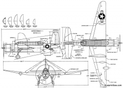 vought tbu 1 model airplane plan