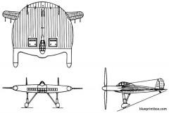 vought v 173 model airplane plan