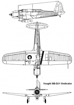 vought vindicator 3v model airplane plan