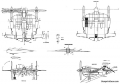 vought xf5u 1 model airplane plan