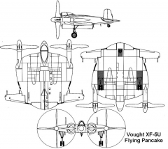 vought xf5u 3v model airplane plan