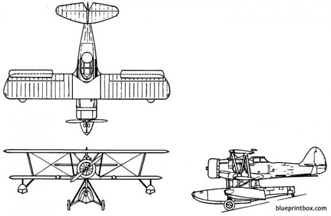 vought xo5u 1 model airplane plan