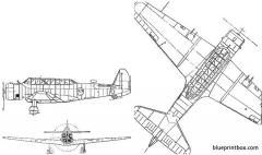 vultee a 19 model airplane plan