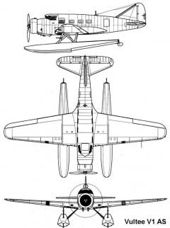 vultee v1as 3v model airplane plan