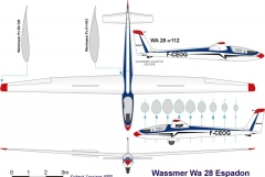 wa28 3v model airplane plan