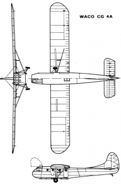 waco gc4a 3v model airplane plan