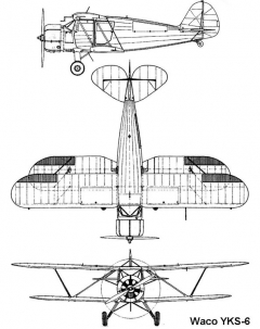 waco yks6 3v model airplane plan