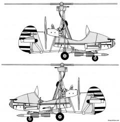 wallis wa 116 autogyro james bond little nellie model airplane plan