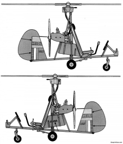 wallis wa 116 autogyro military open frame version model airplane plan